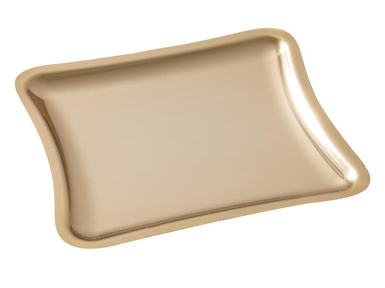 Shiny Metal Tepsi 22x19 Cm Gold
