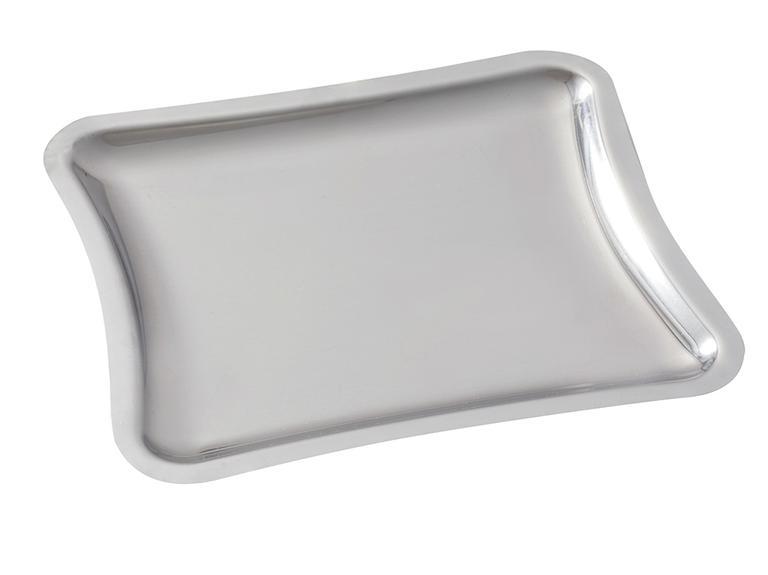 Shiny Metal Tepsi 22x19 Cm Gümüş