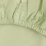 Düz Pamuklu King Size Lastikli Çarşaf 200x200 Cm Yeşil