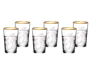 Marla Cam 6'lı Kahve Yanı Su Bardağı 100 Ml Renkli
