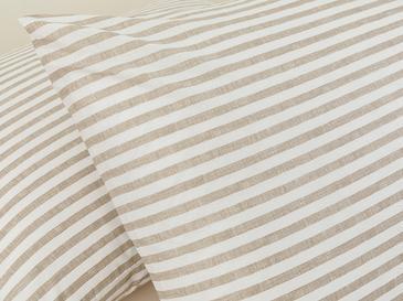 Modern Stripe Kombin Pamuklu 2'li Yastık Kılıfı 50x70 Cm Bej