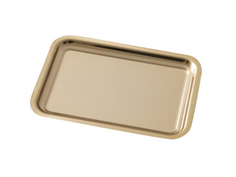 Shiny Metal Tepsi 22x16 Cm Gold