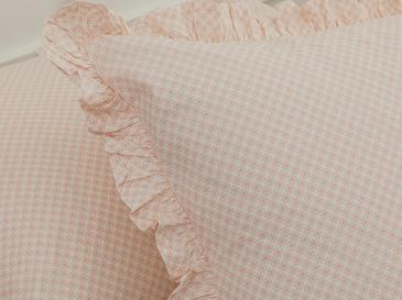 Petit Fleurs Kombin Pamuklu 2'li Yastık Kılıfı 50x70 Cm Pudra
