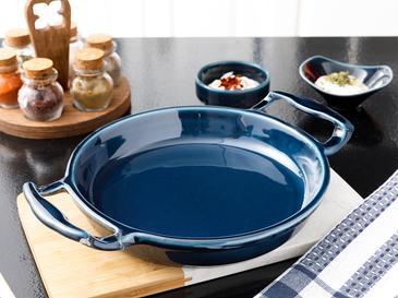 Lucita Porselen Fırın Kabı 28 Cm Mavi