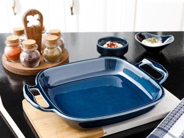 Lucita Porselen Fırın Kabı 26 Cm Mavi