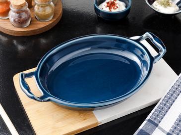 Lucita Porselen Fırın Kabı 22 Cm Mavi
