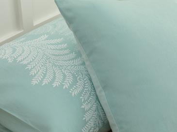 Elegant Leaves Pamuklu 2'li Yastık Kılıfı 50x70 Cm Açık Seledon