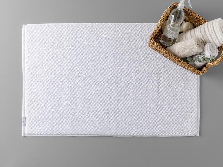 Bukle Microcotton Ayak Havlusu 50x80 Cm Beyaz