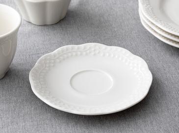 Viyana Porselen Çay Tabağı 12 Cm Açık Krem