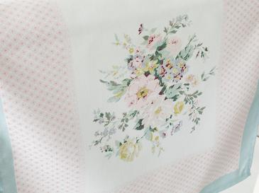 Rosalinda 3 Polyester Dikdörtgen Runner 40x150 Cm Beyaz - Mavi