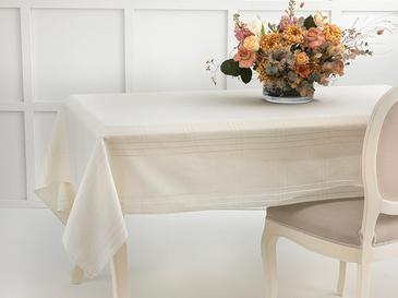 Navy Polyester Ajurlu Masa Örtüsü 150x200 Cm Krem