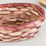 Audrey Hasır Oval Ekmek Sepeti 17.5x24.5x9 Cm Mürdüm