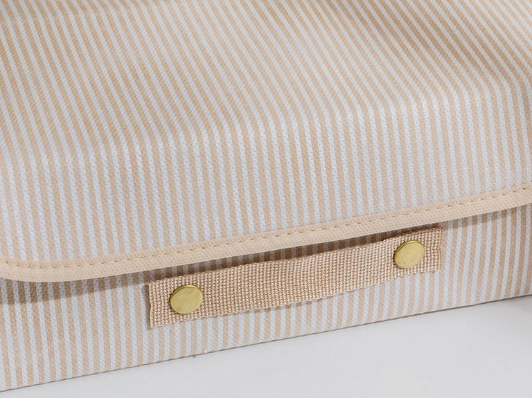 Thin Stripe Polipropilen Saklama Kutusu 30x23x11 Cm Bej
