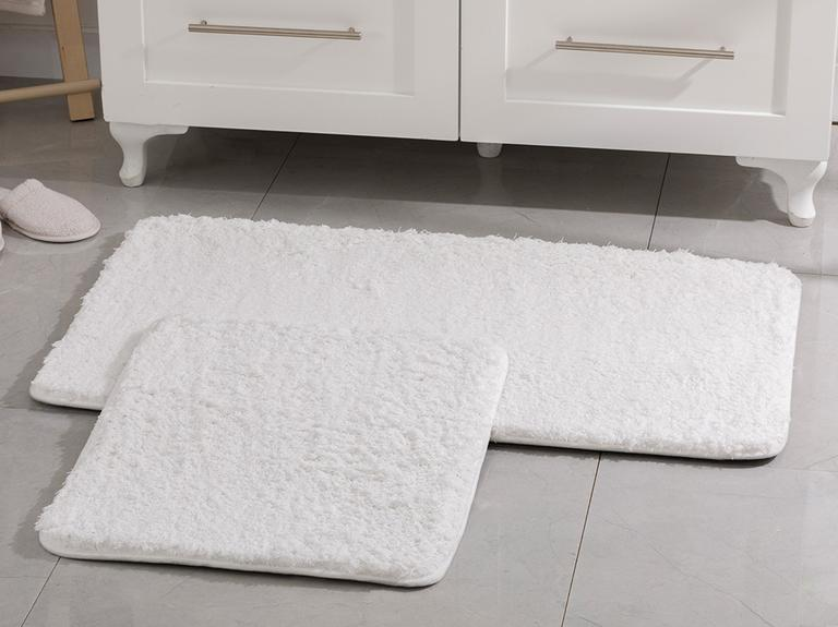 Sheep Polyester Banyo Paspası Seti 60x100 - 50x60 Cm Beyaz