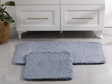 Sheep Polyester Banyo Paspası Seti 50x80 - 45x50 Cm Mavi