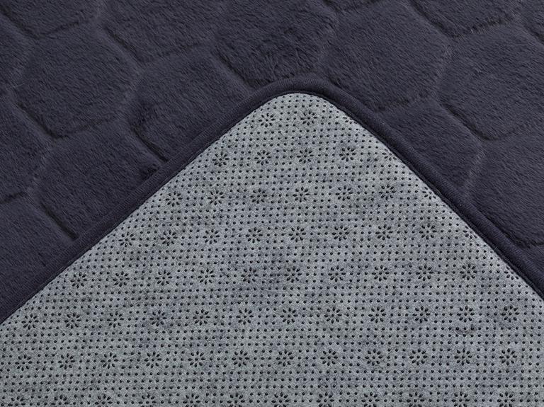 Honeycomb Polyester Banyo Paspası Seti 50x80 - 45x50 Cm Koyu Gri