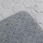 Honeycomb Polyester Banyo Paspası Seti 50x80 - 45x50 Cm Gri