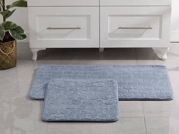 Honeycomb Polyester Banyo Paspası Seti 50x80 - 45x50 Cm Mavi