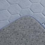 Honeycomb Polyester Banyo Paspası Seti 60x100 - 50x60 Cm Mavi