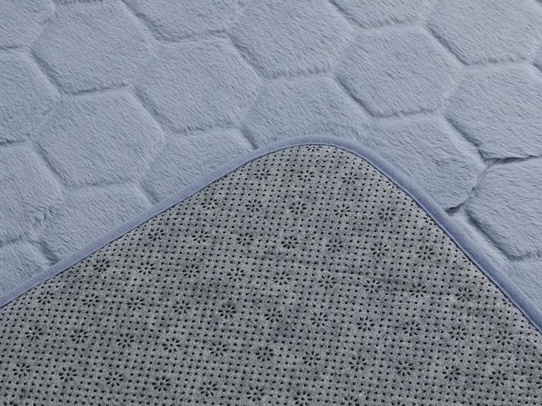 Honeycomb  Banyo Paspası Seti 60x100 - 50x60 Cm Mavi