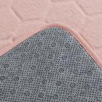 Honeycomb Polyester Banyo Paspası Seti 60x100 - 50x60 Cm Pudra