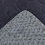 Honeycomb Polyester Banyo Paspası Seti 60x100 - 50x60 Cm Koyu Gri