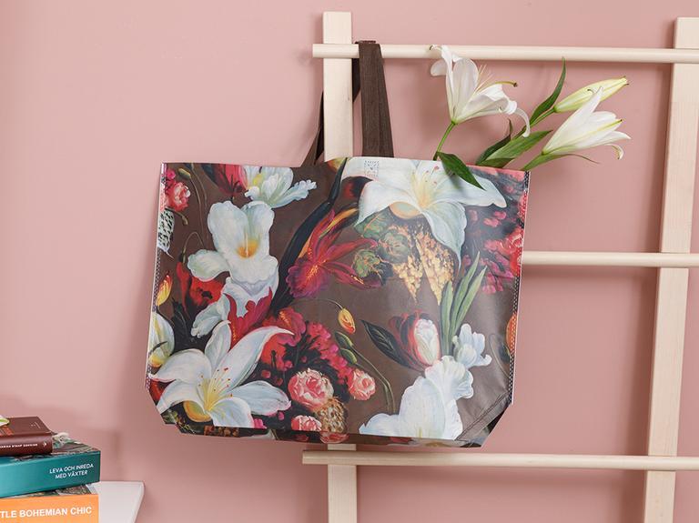 Art Bloom Alışveriş Çantası 54,5x38 Cm Bordo