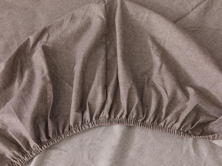 Sharp Twill Suit Tek Kişilik Nevresim Takımı 160x220 Cm Kahve