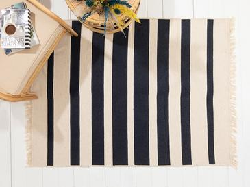 Stripes Pamuklu Kilim 120x180 Cm Lacivert