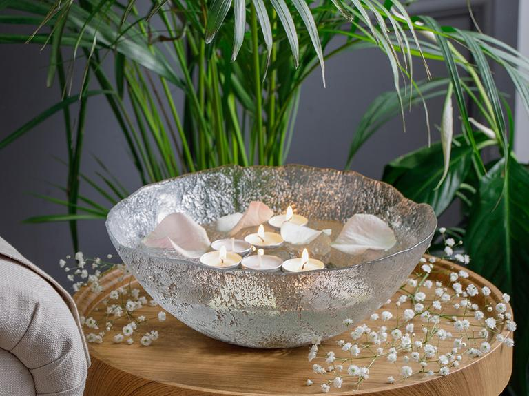 Carmen Dekoratif Kase 30 Cm  Gümüş