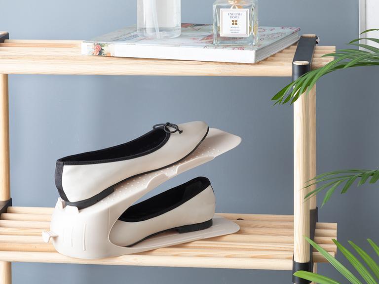 Lily Plastik 2 Katlı Ayakkabı Rampası 10,5x26,3x15 Cm Bej