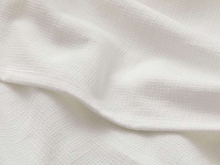 Etamin Jakarlı Dokuma Çift Kişilik Pike 200x230 Cm Beyaz