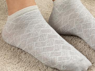 Silvery Pamuk Kadın Çorap Gri