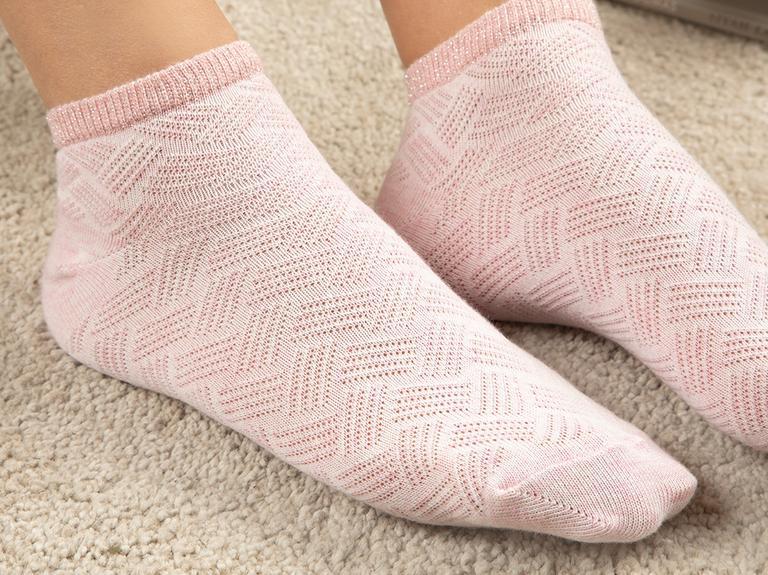 Silvery Pamuk Kadın Çorap Pembe