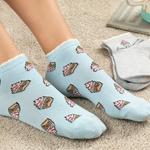Muffin  Pamuk Kadın 2'li Çorap Gri-Mavi