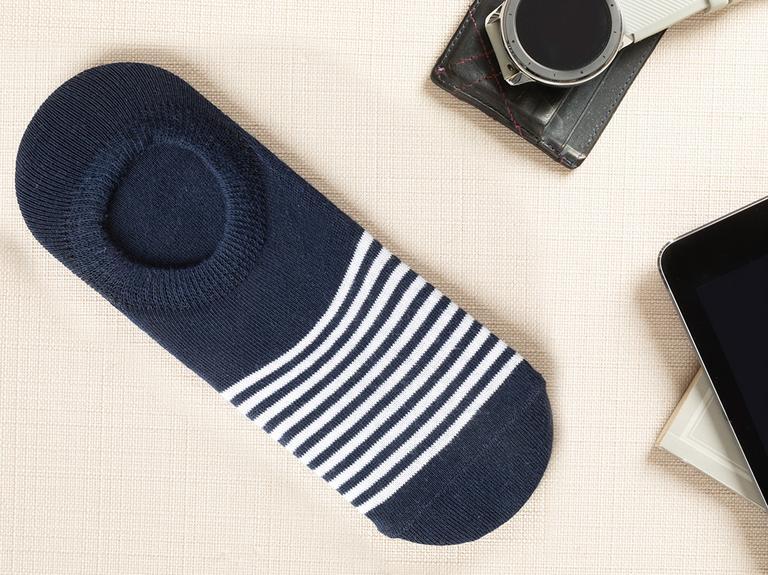 Marine Stripe Pamuk Erkek Çorap  Lacivert