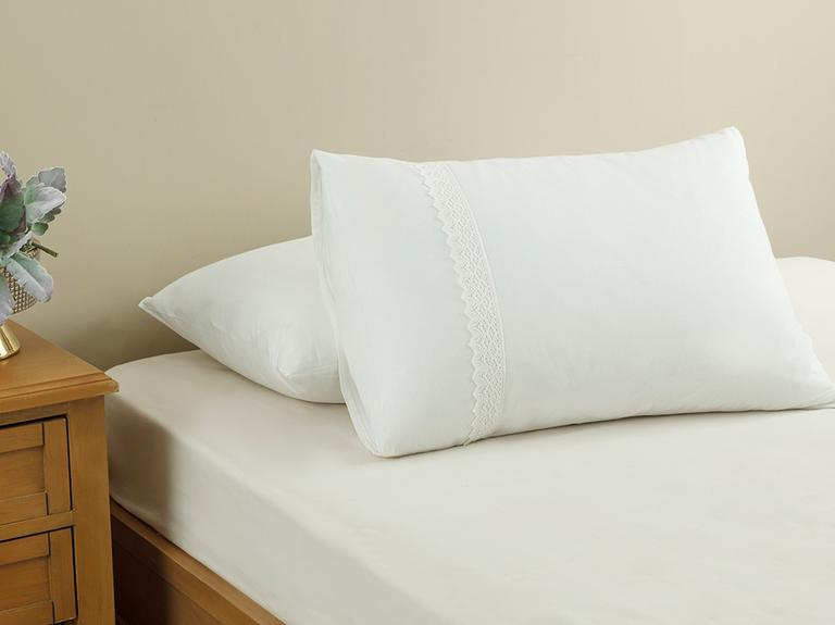 Rena Kopanakili 2'li Yastık Kılıfı 50x70 Cm Kırık Beyaz