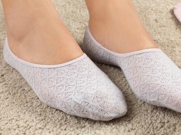 Cindy Pamuk Kadın 2'li Çorap Lila-Pembe