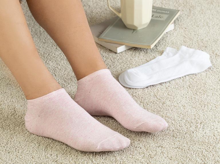 Melissa Pamuk 2'li Kadın Çorap Pembe - Beyaz