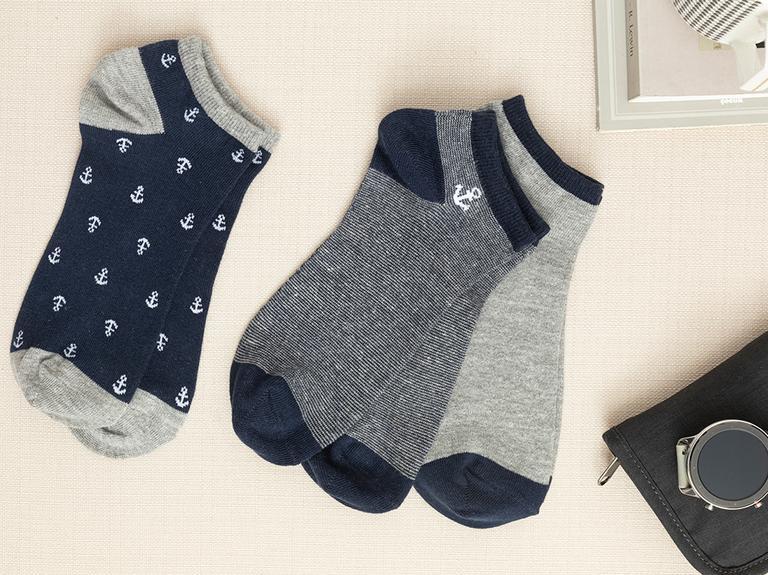 Marin Pamuk Erkek 3'lü Çorap Lacivert