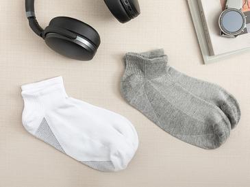 Sportive Pamuk Erkek 2'li Çorap Beyaz- Gri