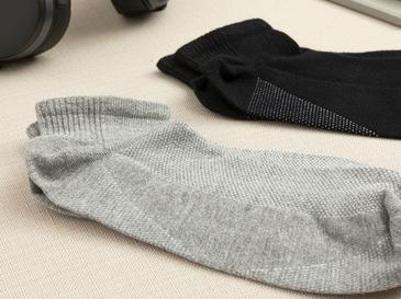 Sportive Pamuk Erkek 2'li Çorap Siyah- Gri