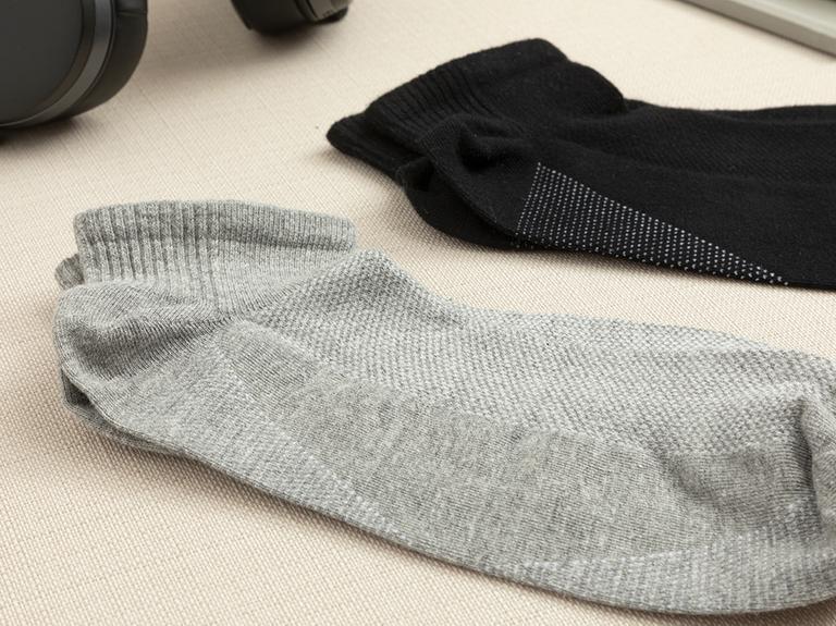 Sportive Pamuk Erkek Çorap Standart Siyah - Gri