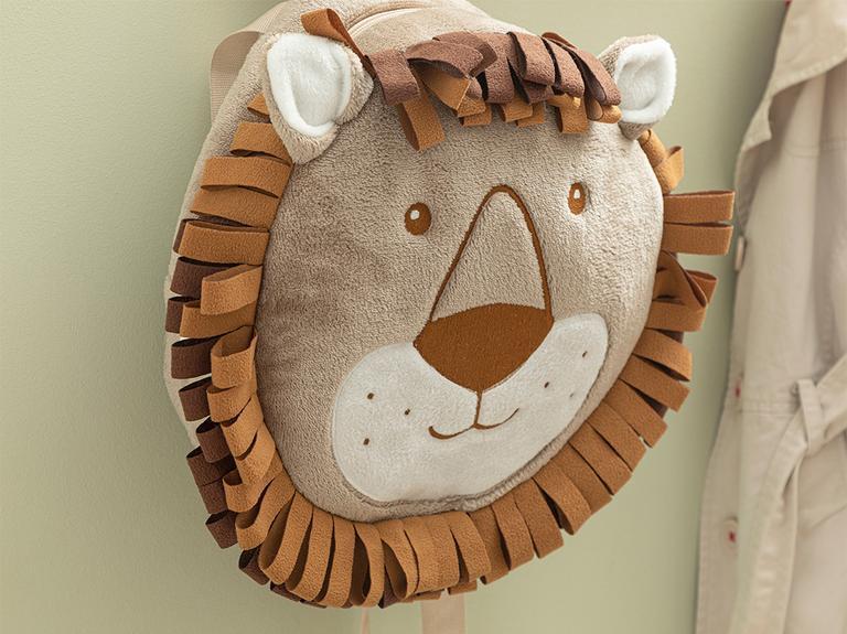 Lion Çocuk Çanta 25x25 Cm Kahve