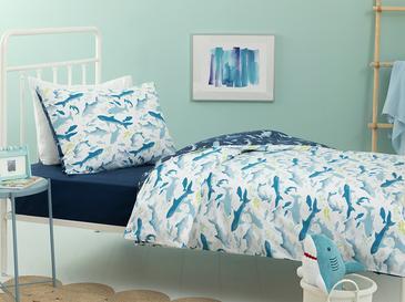 Shark Pamuklu Çocuk Nevresim Takımı 160x220 Cm Mavi
