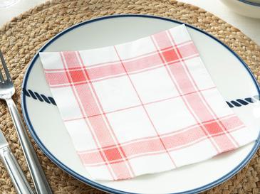 Potikare 20'li Kağıt Peçete 33x33 Cm Beyaz - Kırmızı
