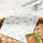 Flora 20'li Kağıt Peçete 33x33 Cm Beyaz - Yeşil