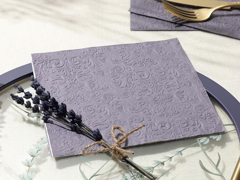 Pure 20'li Kağıt Peçete 33x33 Cm Mor