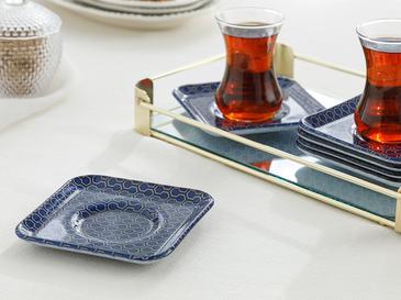 Comb Cam 6'lı Çay Tabağı 12 Cm Lacivert