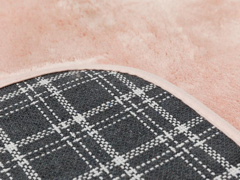 Puffy Polyester 2'li Banyo Paspası Seti 60x90 + 50x60 Cm Pudra Pembe